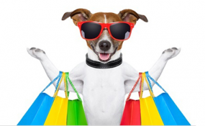 shopping-dog